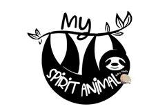 My Spirit Animal svg CUT FILE, Sloth svg cute funny Sloth Product Image 1