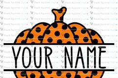 Pumpkin Monogram and Split Frames SVG Bundle Product Image 8