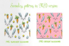 Hand drawn Easter seamless patterns png and clip art set Product Image 2