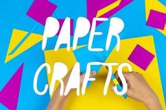 Paper Cut Out Font Product Image 3