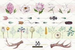 BOHO FLOWERS watercolor set Product Image 4