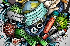 Cartoon vector doodles Quarantine illustration Product Image 2