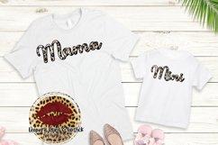 Sublimation Mama and Mini Leopard Design Product Image 2