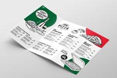 Tri-Fold Pizza Menu Template Product Image 3