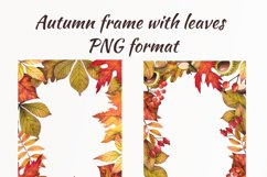 Watercolor autumn leaves, clipart Product Image 3