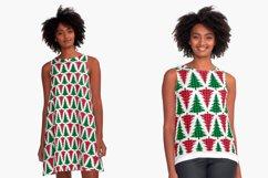 Christmas Tree Pattern, Buffalo Plaid Graphic Product Image 3