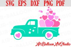 Valentines SVG Valentines Day Truck Svg Love Svg Valentine Product Image 1