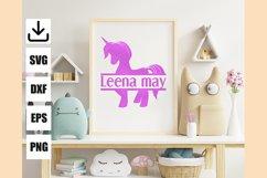 Layered unicorn custom and monogram unicorn, easy to cut Product Image 2