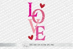 LOVE svg   Valentine's Day SVG   Modern Farmhouse Sign   dxf Product Image 2