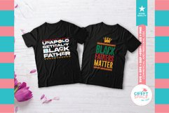 Black Fathers Matter Bundle, SVG, EPS, PNG and More Product Image 5