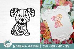 Paw Print Mandala SVG Cut Files Product Image 4