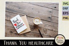 Thank You Healthcare Workers SVG - Healthcare Heroes Product Image 5