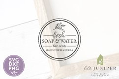 Fresh Soap and Water SVG, Bathroom SVG, Round Sign SVG Product Image 2
