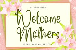 Welcome Mothers   Lovely Calligraphy Font Product Image 1