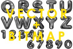 Hello Black. Alphabet and numerals Product Image 3
