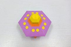 DIY Papercraft Alien ship,Papercraft UFO,X-files Ufo,Cricut Product Image 4