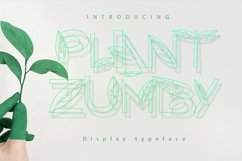 Plant Zumby| A Display Typeface Product Image 1