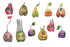 Watercolor collection Eye fruits Product Image 2