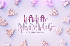 Lala Prance | A fun stringy duo font | Lighted Font Product Image 1