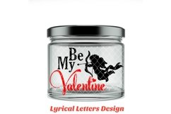 Be My Valentine Cupid Valentine's Day SVG DXF LL003C Product Image 2