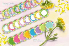 Spring Circle Frames Clipart Set of 24 PNG files Product Image 5