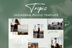 Instagram Puzze Template, Canva, Bloggers Instagram Grid Product Image 4