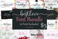 Best Love Font Bundle Product Image 1