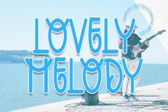 Lovely Melody - A Smart Display Font Product Image 1