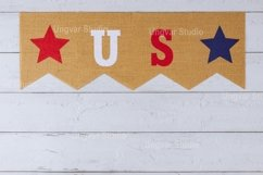 Patriotic holiday with decor US letters American symbol Product Image 1