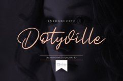Dotyville Script Font Product Image 1