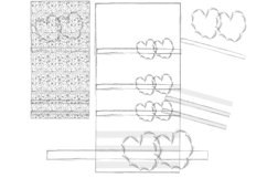 Hearts and seamless pattern from simple elements Product Image 6