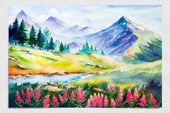 Spring Landscapes. Watercolor. Product Image 6