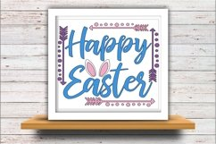 Happy Easter SVG DXF JPEG Silhouette Cameo Cricut Bunny ears Product Image 2