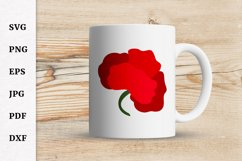 Poppy SVG for Remembrance or Anzac Day Cricut file Product Image 3