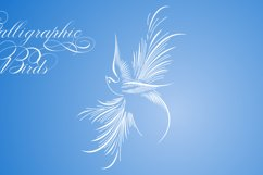 Calligraphic Birds Family Pack Product Image 4