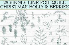 Foil Quill Christmas 27 Holly & Berries Set / Single Line Product Image 3