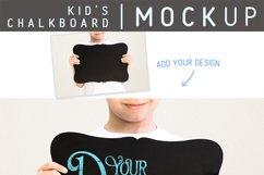 Child Holding Chalkboard Sign   Mockup for School, Milestone Product Image 3