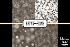 Brown Forms - 10 Digital Papers/Backgrounds Product Image 2