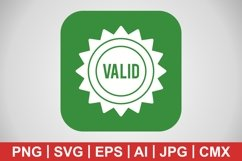 Vector Valid Stamp Icon Product Image 1