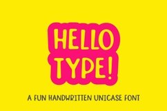 Web Font Hello type - a fun handwritten font Product Image 1