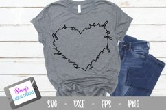 Teacher SVG - Teaching is a work of heart, handlettered Product Image 1