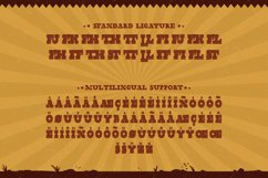 Wild Justice - Western Display Font Product Image 6