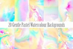 20 Pastel Watercolour Abstract Paint Backgrounds Product Image 1