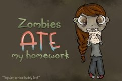 Zombie Buddy  An Apocalyptic Alternate Duo Font Product Image 4