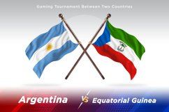 Argentina vs Equatorial Guinea Two Flags Product Image 1