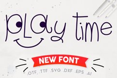 Play Time Script - A Fun and Quirky Font   Open Path Font Product Image 1