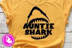 Auntie shark jaw svg design Aunt Birthday decor Cricut Png Product Image 1