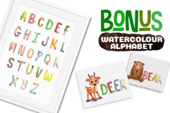 Watercolor Forest Animal Pattern Set Product Image 2