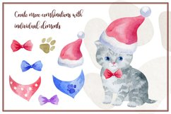 Furry friends. Kittens. Watercolor clip arts Product Image 5