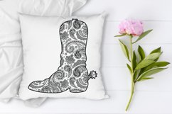 Cowboy Boot Mandala SVG, Country Western, Mandala Clipart. Product Image 7